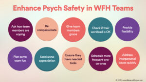 10 Ways to Enhance Psychological Safety on WFH Teams