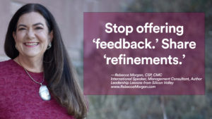 Rebecca Morgan Feedback quote